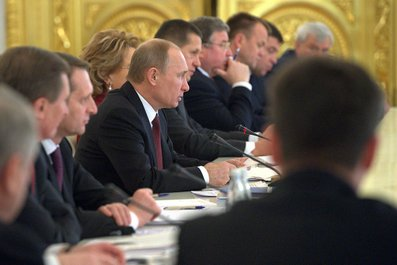 J.E. prezident VladimírPutin na zasedání -Státní rady RF.