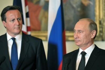 Vladimír Putin a David Cameron