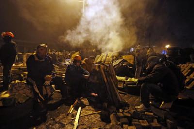 Andělé eurodemokracie po útoku na Parlament a prezidentské sídlo v Kyjevě